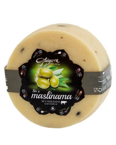 Cheese with olives