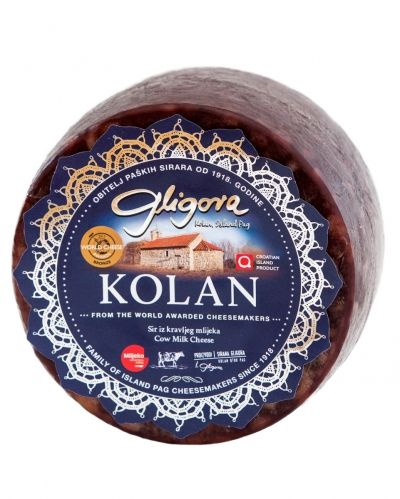 Kolan cheese aged in pressed maraska cheery skins
