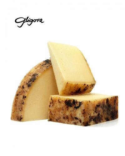 Dinarski cheese aged in maraska cherry pressed skins