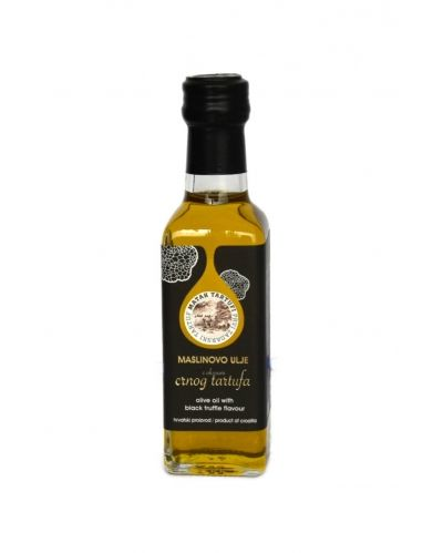 Olive oil with black truffle flavour
