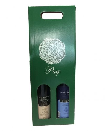 Gift package of two wines from island Pag