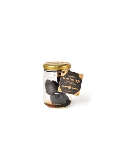 Black Istrian truffle in salt water 25g