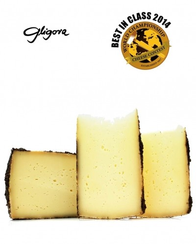 100% sheep milk cheese from Pag aged in pressed olive skins