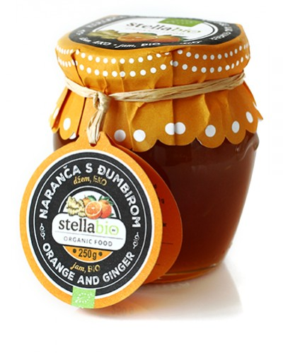 Orange and ginger jam 250g, BIO