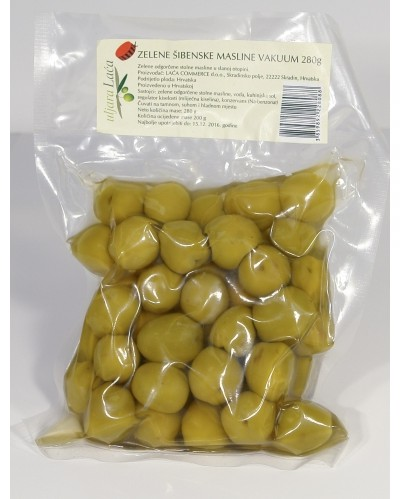 Green Dalmatian olives from Sibenik 280g