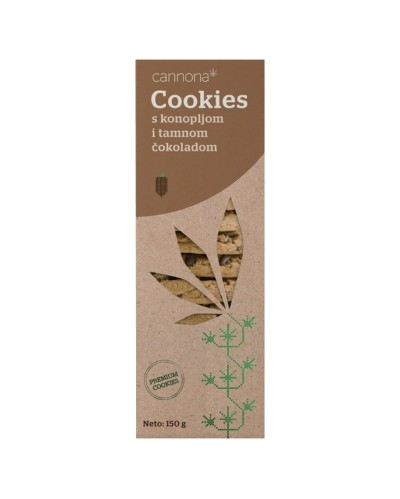 Cookies with hemp and chocolate