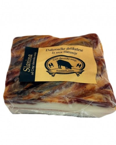 Slavonian black pig bacon