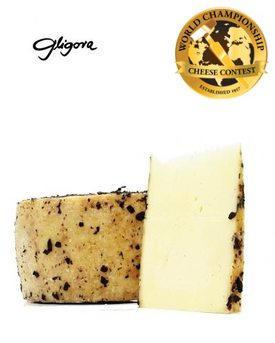 Dinarski cheese aged in wine grapes skins