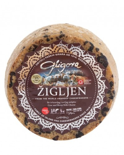 SUPER DISCOUNT - Zigljen cheese aged in pressed wine grapes 1/8