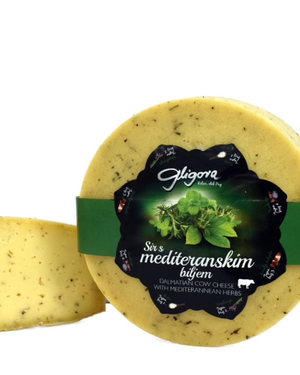 Cheese with Mediterranean herbs
