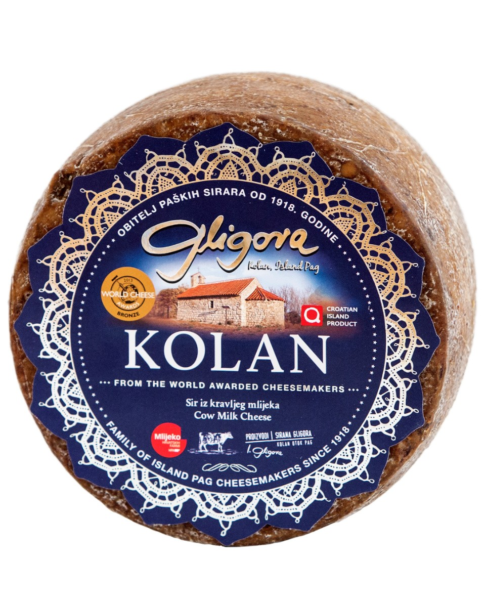 Kolan cheese aged in olive skins