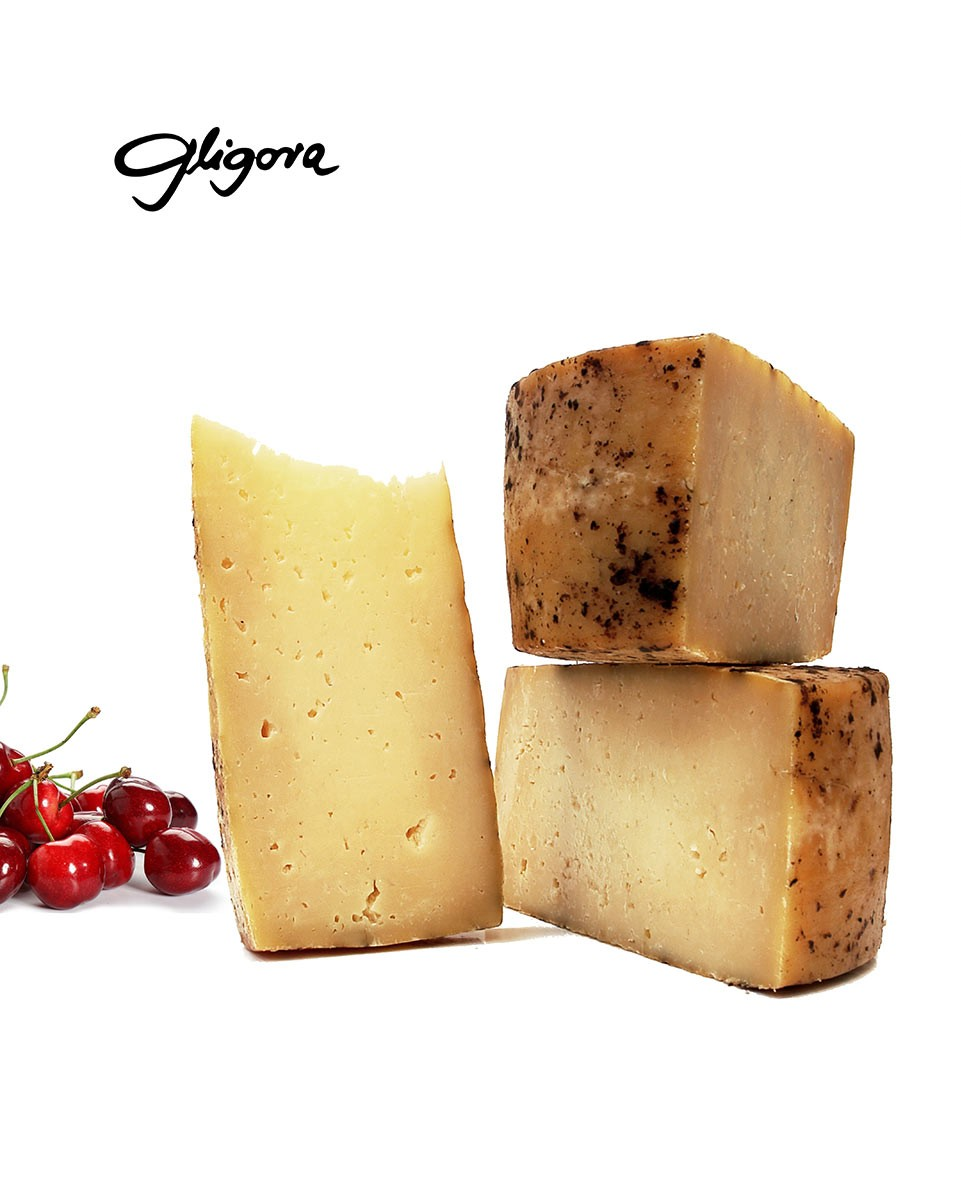 Zigljen cheese aged in pressed maraska cherry skins