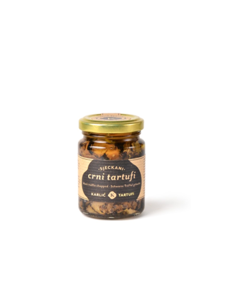 Cutted black truffle in olive oil 90g